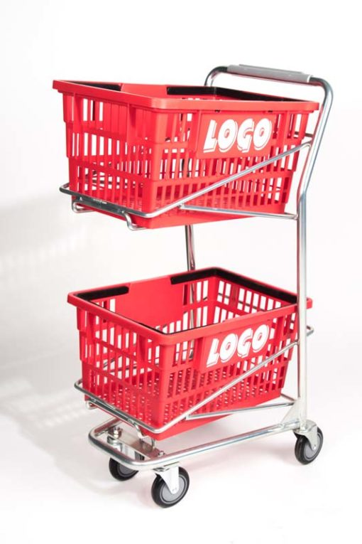 big double red basket in one cart
