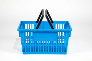 big basket medium blue