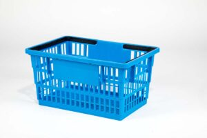 big basket medium blue