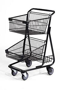 hero black steel basket cart