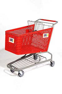 hero plastic shopping cart pc30