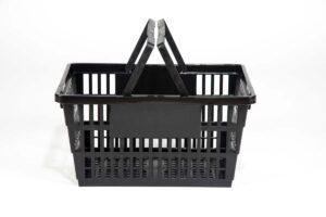 large plastic black basket