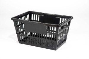 classic large black shopping basket