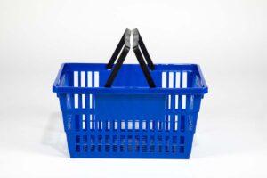 large dark blue basket