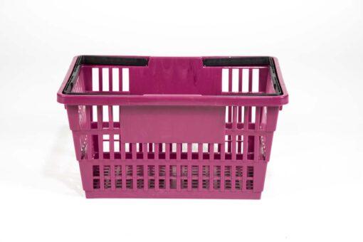 large plum color basket
