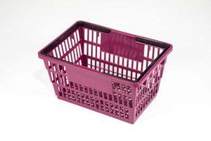 large plum color shopping basket