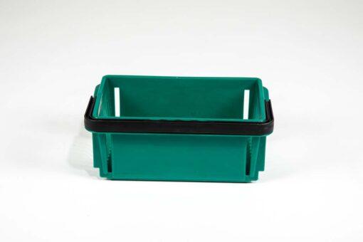 mini emerald plastic basket side view