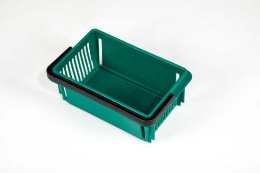 mini emerald plastic basket top wiev
