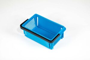 mini basket medium blue