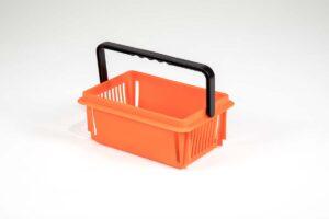 Orange recycled plastic mini basket without logo