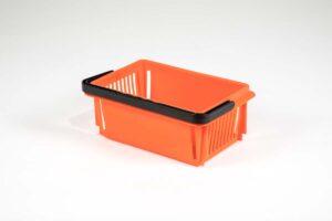 Orange plastic mini basket without logo