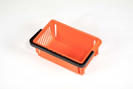 Orange plastic mini basket