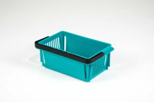 mini basket teal