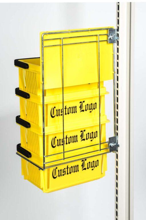mini basket yellow rack