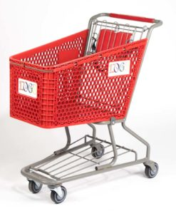 plastic cart red