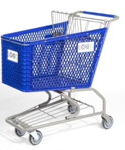 Big blue plastic cart