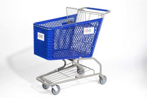 Big blue plastic cart