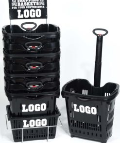 roller basket black rack