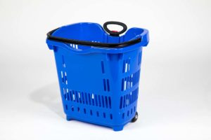 roller basket blue