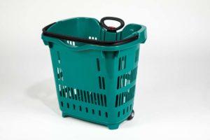 emerald plastic roller basket