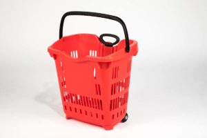 roller basket red