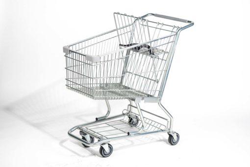 Steel shopping cart