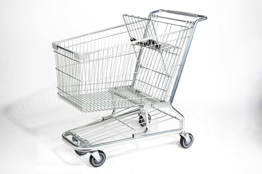 Steel wire shopping carts