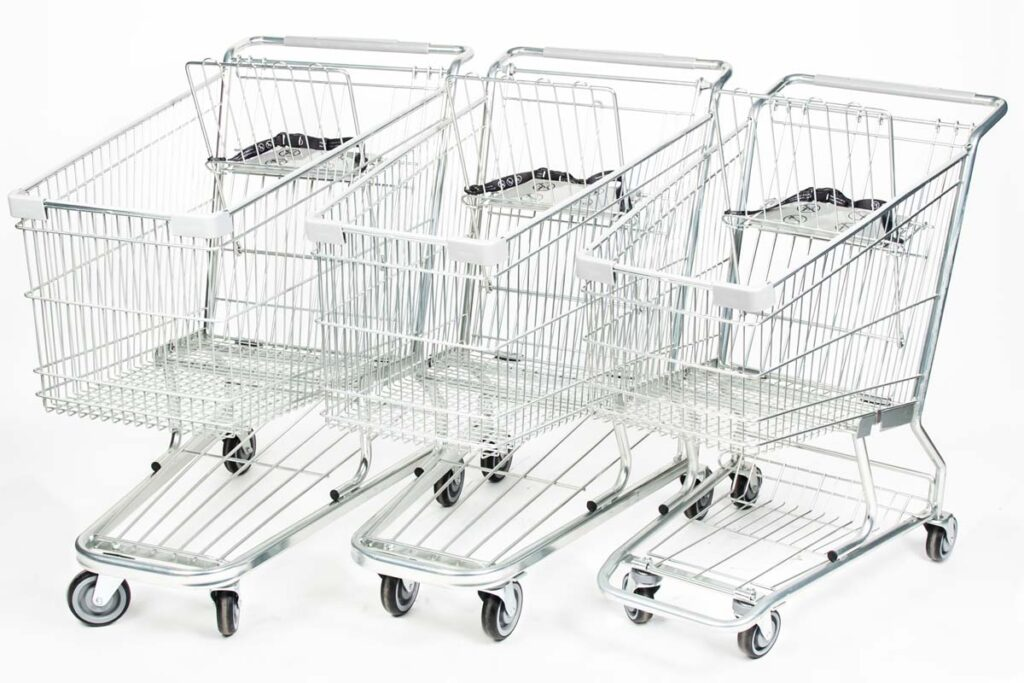 Steel shopping carts