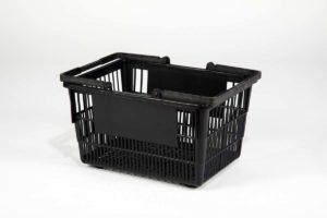 Tall Black Basket