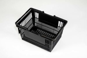 Tall Black Basket