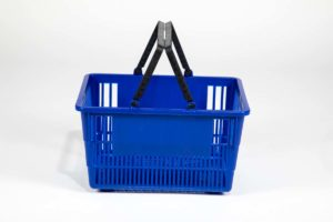 Tall Basket Blue