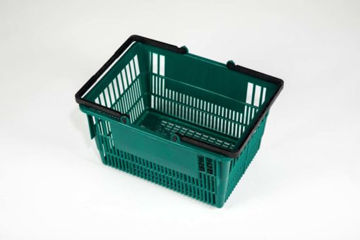 Tall emerald basket top view