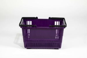 tall grape shopping basket side wiev