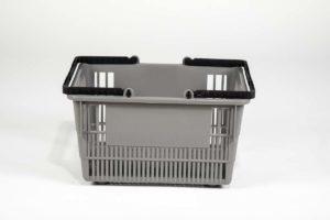 tall basket gray