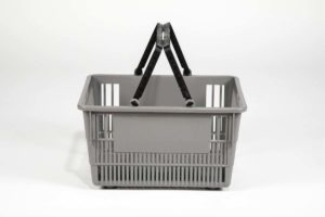 tall basket gray