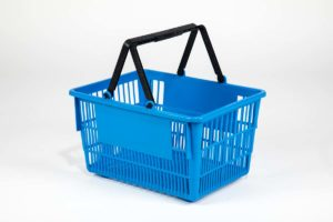 tall basket medium blue