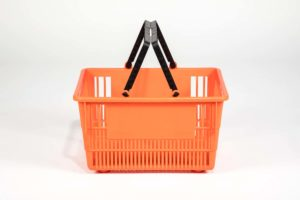 tall basket orange