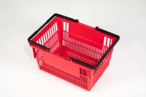 tall basket red