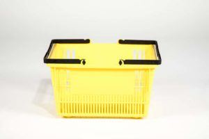 tall basket yellow