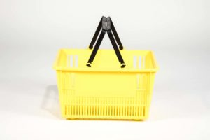 tall basket yellow