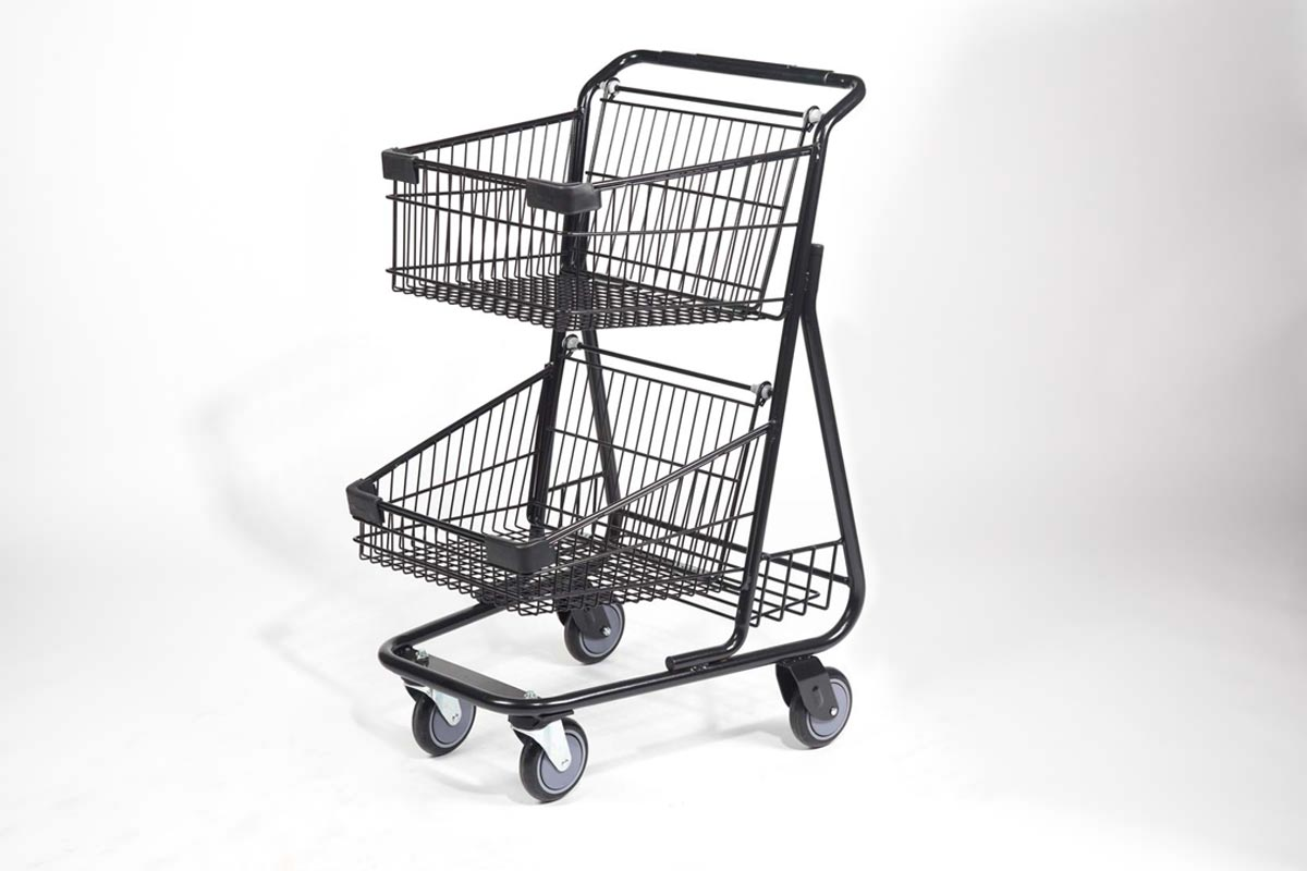 urban black steel cart